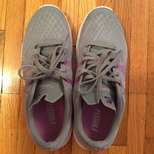 Nike womens sneakers in grey and purple size 9.5